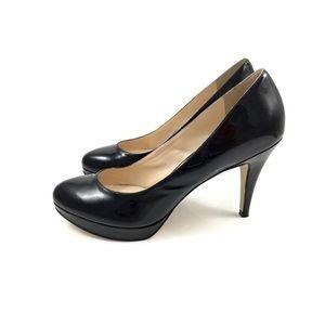ENZO ANGIOLINI black patent leather stiletto pumps